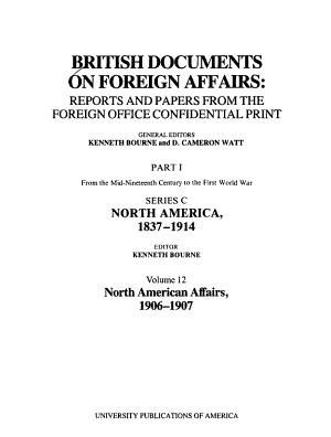 British Documents on Foreign Affairs  reports and Papers from the Foreign Office Confidential Print PDF