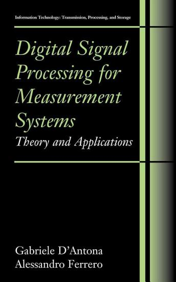 Digital Signal Processing for Measurement Systems PDF
