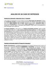 ANALISIS DE UN CASO DE DEPRESION