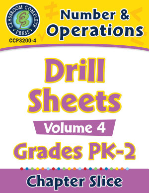 Number   Operations   Drill Sheets Vol  4 Gr  PK 2