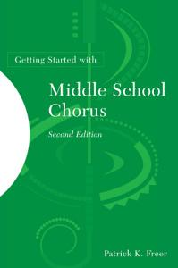 Getting Started with Middle School Chorus Book