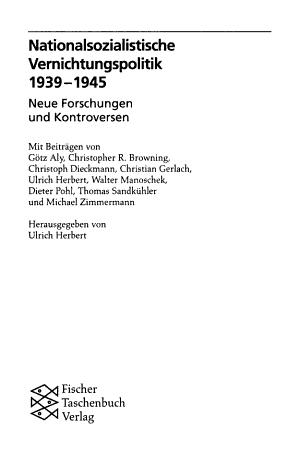 Nationalsozialistische Vernichtungspolitik  1939 1945 PDF