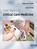 Core Topics in Critical Care Medicine PDF