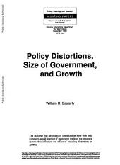Policy Distortions, Size of Government, and Growth: Volume 344