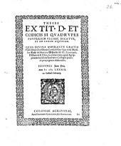 Theses ex tit. D. et Codicis Si quadrupes pauperiem fecisse dicatur, et ad legem Aquiliam