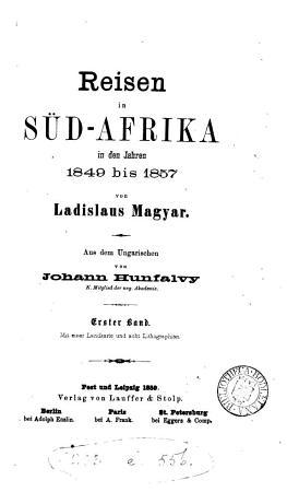 Reisen in S  d Afrika in den Jahren 1849 bis 1857 PDF