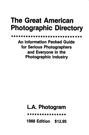 The Great American Photographic Directory