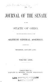 Journal of the Senate of the ... General Assembly of Ohio: Volume 60