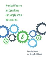 Practical Finance for Operations and Supply Chain Management PDF