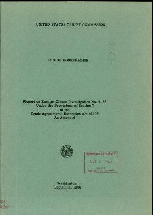 Crude Horseradish PDF
