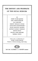 Download The History and Prospects of the Social Sciences Book