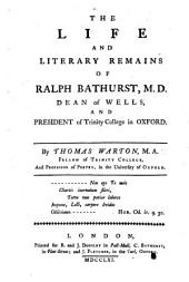The Life and Literary Remains of Ralph Bathurst