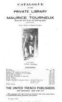 Download Catalogue of the Private Library of Maurice Tourneux Book