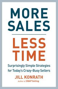 More Sales  Less Time Book