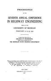 Proceedings of the Annual Conference in Highway Engineering: Issues 7-10