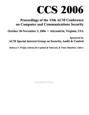 ACM Conference on Computer and Communications Security PDF