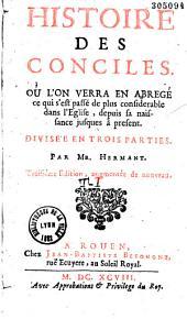 Histoire des conciles, par jean Hermant