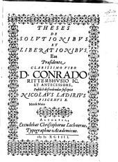 Theses de solutionibus et liberationibus