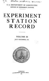 Experiment Station Record: Volume 53