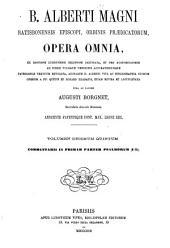 B. Alberti Magni Opera omnia: Volume 15