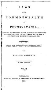 Laws of the Commonwealth of Pennsylvania: May 24, 1781-Apr. 5, 1790