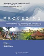 PROCEDING THE 8 RURAL RESEARCH AND PLANNING GROUP INTERNATIONAL CONFERENCE