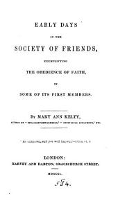 Early days in the Society of friends