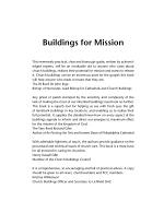 Buildings for Mission