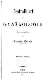 Centralblatt für gynäkologie: Band 15