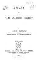 Essays from  The Quarterly Review  PDF
