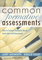 Common Formative Assessments PDF