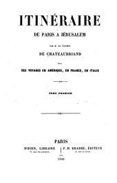 Itinéraire de Paris a Jérusalem: Volume1