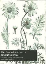 The Lancaster Farmer, a Monthly Journal