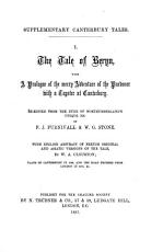 The tale of Beryn  with a prologue of the merry adventure of the pardoner with a tapster at Canterbury  re ed  from the duke of Northumberland s MSS  by F J  Furnivall   W G  Stone  with Engl  abstract of Fr  original and Asiatic versions by W A  Clouston PDF
