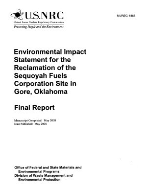 Reclamation of the Sequoyah Fuels Corporation Site in Gore  Oklahoma