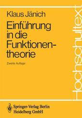 Einführung in die Funktionentheorie: Ausgabe 2