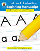 Traditional Handwriting  Beginning Manuscript  Grades K   2