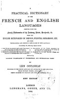 A Practical Dictionary of the French and English Languages     PDF
