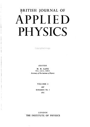 British Journal of Applied Physics PDF