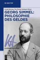 Georg Simmel  Philosophie des Geldes PDF