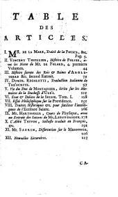 Bibliothèque raisonnée des ouvrages des savans de l'Europe: Volume4