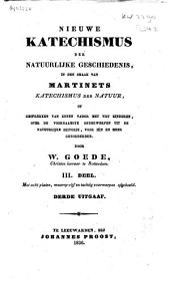 Nieuwe katechismus der natuurlijke geschiedenis, in den smaak van Martinets Katechismus der natuur, of Gesprekken van eenen vader met vijf kinderen over de voornaamste onderwerpen uit de natuurlijke historie, voor min en meer gevorderden: Volume 3