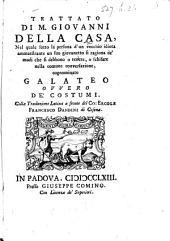 Trattato ... cognominato Galateo ... Colla traduzione latina a fronte di Niccolò Fierberto inglese, etc
