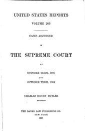 United States Reports: Cases Adjudged in the Supreme Court, Volume 203