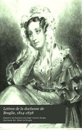 Lettres de la duchesse de Broglie, 1814-1838