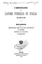 L'amministrazione dei lavori pubblici in Italia dal 1860 al 1867