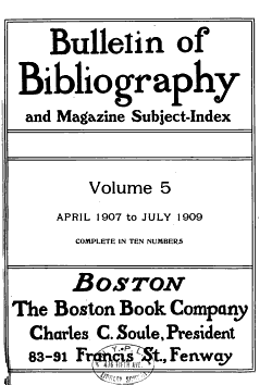 Bulletin of Bibliography and Magazine Subject index PDF