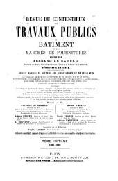 Revue du contentieux des travaux publics du batiment et des marchés de fournitures: Volume8