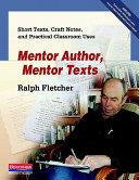 Mentor Author  Mentor Texts