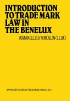 Introduction to Trade Mark Law in the Benelux PDF